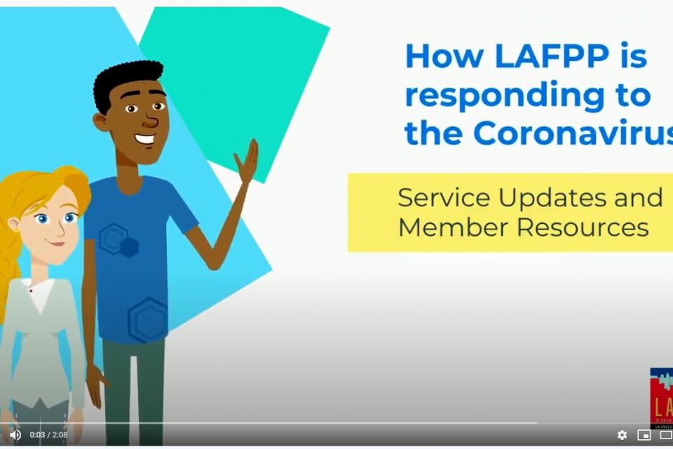 LAFPP COVID-19 Service Updates